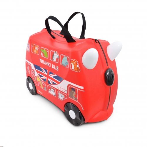 Детский чемодан на колесах 'Автобус' Trunki Уральск, Жезказган, Кызылорда, Талдыкорган, Экибастуз купить в магазине игрушек LEMUR.KZ