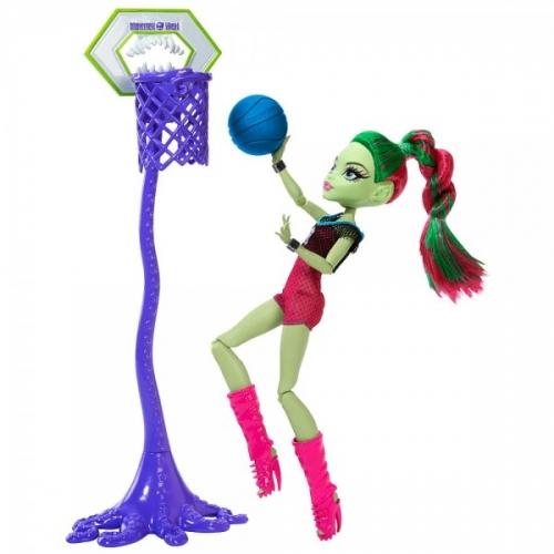 Monster High Венера Макфлайтрап Чемпионат по баскетболу Костанай, Атырау, Павлодар, Актобе, Петропавловск купить в магазине игрушек LEMUR.KZ