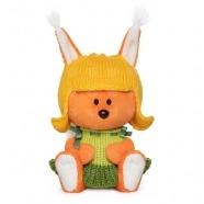 Мягкая игрушка Белка Бика в шапочке и платье