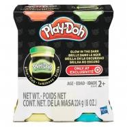 пластилина Play-Doh 'Светящиеся в темноте', 4 цвета Уральск, Жезказган, Кызылорда, Талдыкорган, Экибастуз купить в магазине игрушек LEMUR.KZ