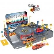 Игровой Welly: 3 машины и вертолет Алматы, Астана, Шымкент, Караганда купить в магазине игрушек LEMUR.KZ