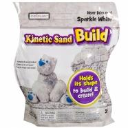 Кинетический песок Kinetic Sand из серии 'Build' (вес - 454 гр.) - белый Костанай, Атырау, Павлодар, Актобе, Петропавловск купить в магазине игрушек LEMUR.KZ