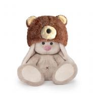 Мягкая игрушка Зайка Ми в шапке медвежонка (малыш) Алматы, Астана, Шымкент, Караганда купить в магазине игрушек LEMUR.KZ