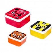 Ланч бокс 3 в 1 Trunki, красный, оранжевый, желтый Уральск, Жезказган, Кызылорда, Талдыкорган, Экибастуз купить в магазине игрушек LEMUR.KZ