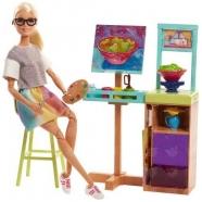 Игровой набор Барби  'Студия художника' Костанай, Атырау, Павлодар, Актобе, Петропавловск купить в магазине игрушек LEMUR.KZ