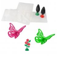 Тематический набор 3D Magic 'Бабочка и цветок' Костанай, Атырау, Павлодар, Актобе, Петропавловск купить в магазине игрушек LEMUR.KZ