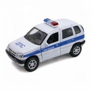 Welly модель машины 1:34-39 Chevrolet Niva милиция ДПС Алматы, Астана, Шымкент, Караганда купить в магазине игрушек LEMUR.KZ