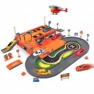 Игрушка игровой набор Гараж,  включает 3 машины и вертолет Алматы, Астана, Шымкент, Караганда купить в магазине игрушек LEMUR.KZ