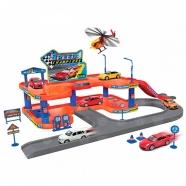 Игрушка игровой набор Гараж,  включает 3 машины и вертолет Костанай, Атырау, Павлодар, Актобе, Петропавловск купить в магазине игрушек LEMUR.KZ