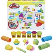 Play-Doh Игровой набор 'Текстуры и игструменты' Костанай, Атырау, Павлодар, Актобе, Петропавловск купить в магазине игрушек LEMUR.KZ