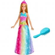 Барби 'Принцесса с волшебными волосами в сверкающем платье' Усть Каменогорск, Актау, Кокшетау, Семей, Тараз купить в магазине игрушек LEMUR.KZ