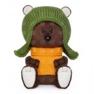 Мягкая игрушка Медведь Федот в шапочке и свитере