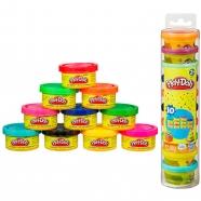 пластилина Play-Doh тубус с 10 мини-баночками Алматы, Астана, Шымкент, Караганда купить в магазине игрушек LEMUR.KZ