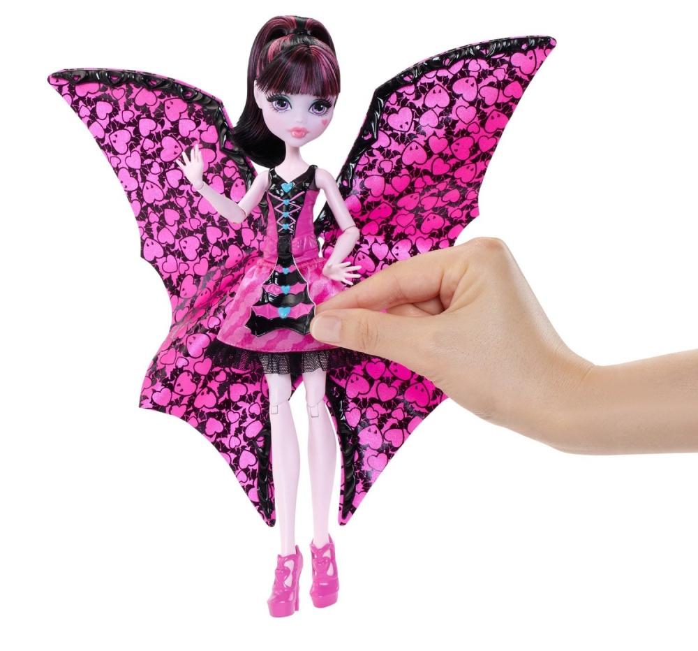 Monster High Дракулаура с крыльями c платьем трансформером \